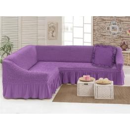 Чехлы: Диван угловой + декоративная подушка лиловый (29)  198041 Угловой диван