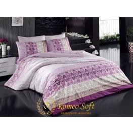 Постельное белье Bagdat lila Romeo Soft Ранфорс (комплект семейный)