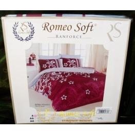Постельное белье Estee bordo Romeo Soft Ранфорс (комплект полуторный)