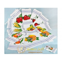Набор вафельных кухонных полотенец Fakilli Class Fruits 12 шт (30*50)