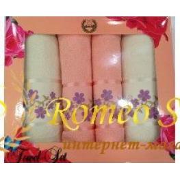 Набор полотенец для женщин Romeo Soft 4 шт (2*50*90+2*70*140) см)