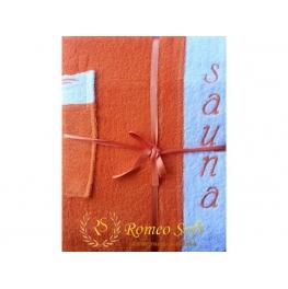 Набoр для сауны женский Romeo Soft махровый с тапочками